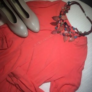 Salmon Blouse For Layering